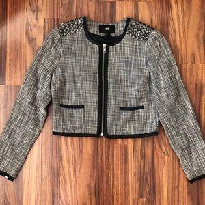 H&M Women's Zipper Short Suit Jacket Size 4